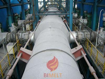 Blast furnace flue gas pipeline and valves